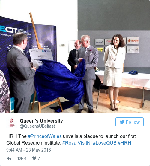 Tweet by @Queen's University