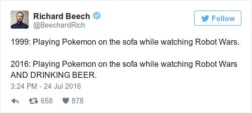 Tweet by @Richard Beech