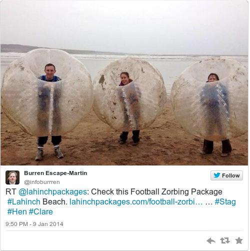 Tweet by @Burren Escape-Martin