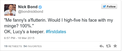 Tweet by @Nick Bond