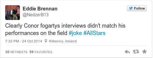 Tweet by @Eddie Brennan
