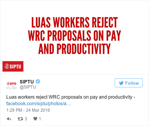 Tweet by @SIPTU