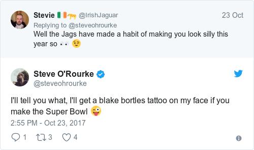 Tweet by @Steve O'Rourke
