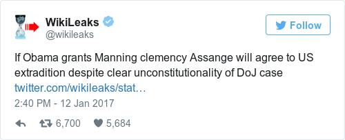 Tweet by @WikiLeaks