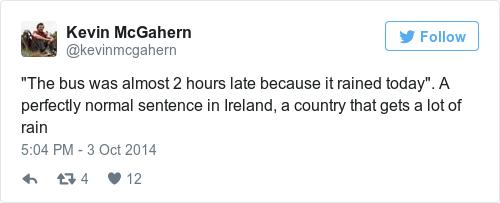 Tweet by @Kevin McGahern