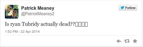 Tweet by @Patrick Meaney