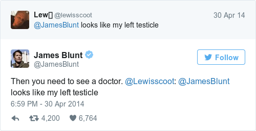 Tweet by @James Blunt