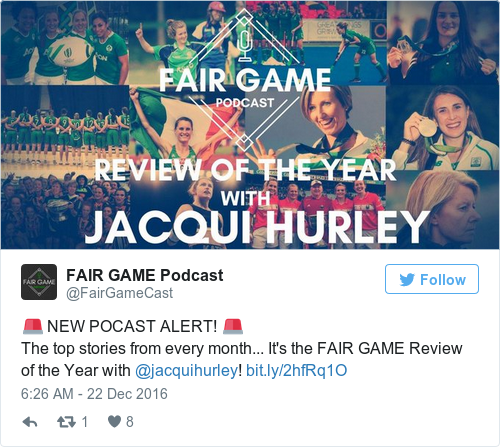 Tweet by @FAIR GAME Podcast