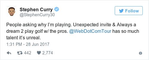 Tweet by @Stephen Curry