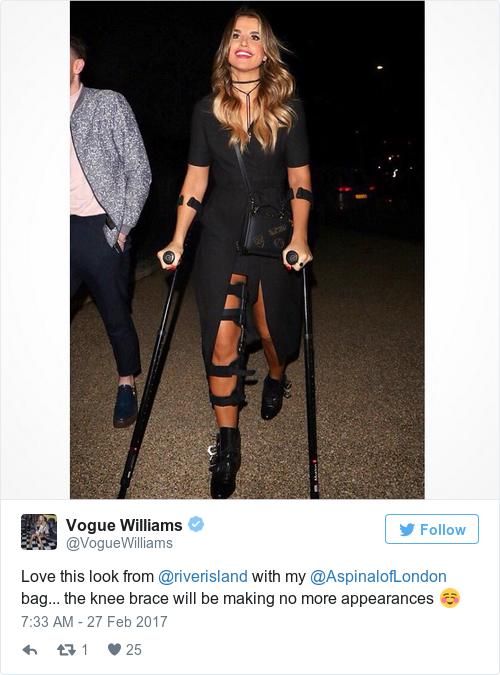 Tweet by @Vogue Williams