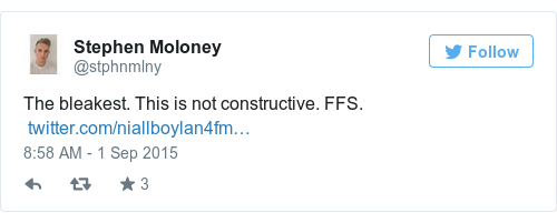 Tweet by @Stephen Moloney