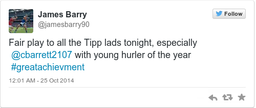 Tweet by @James Barry