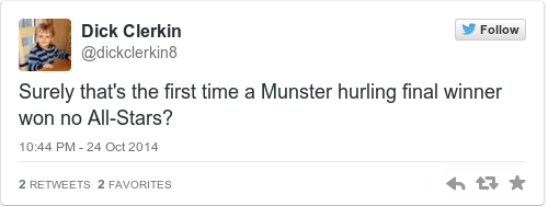 Tweet by @Dick Clerkin
