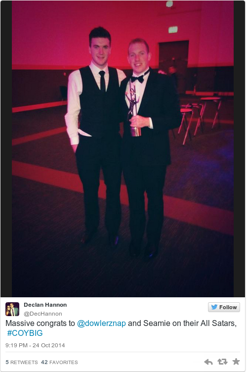 Tweet by @Declan Hannon