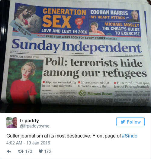Tweet by @fr paddy