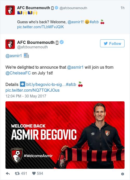 Tweet by @AFC Bournemouth 🍒