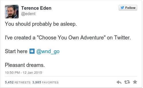 Tweet by @Terence Eden