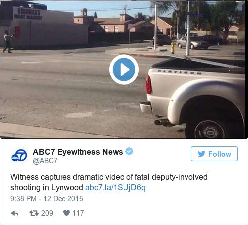 Tweet by @ABC7 Eyewitness News
