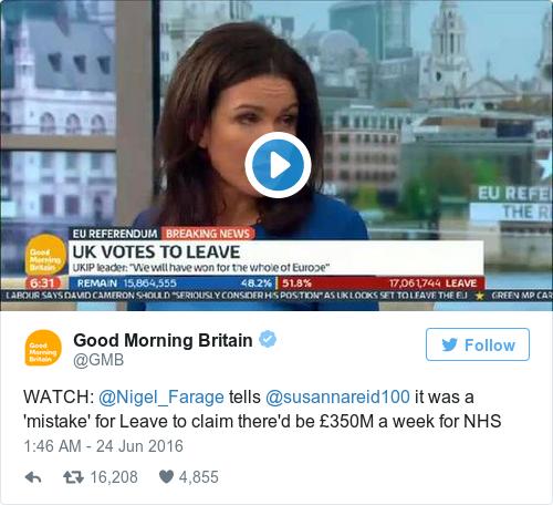 Tweet by @Good Morning Britain