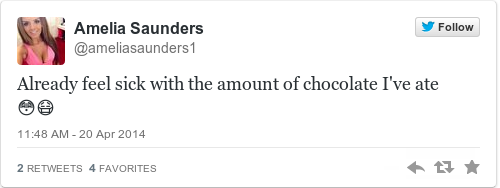 Tweet by @Amelia Saunders