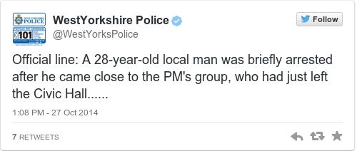 Tweet by @WestYorkshire Police