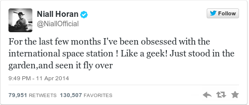 Tweet by @Niall Horan