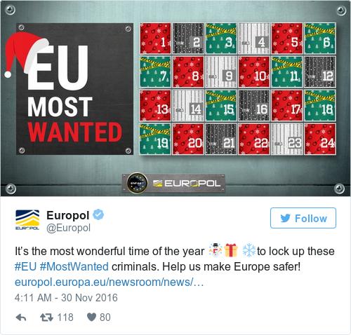 Tweet by @Europol