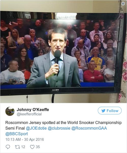 Tweet by @Johnny O'Keeffe
