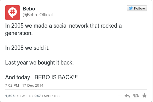 be warned bebo is back and all your old photos will be available