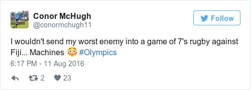 Tweet by @Conor McHugh