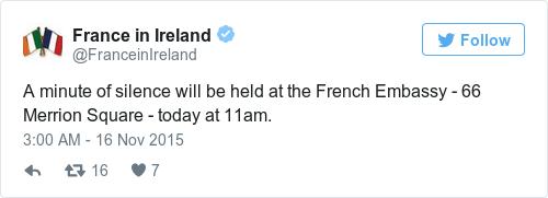 Tweet by @France in Ireland