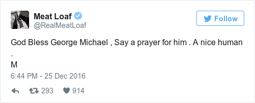 Tweet by @Meat Loaf