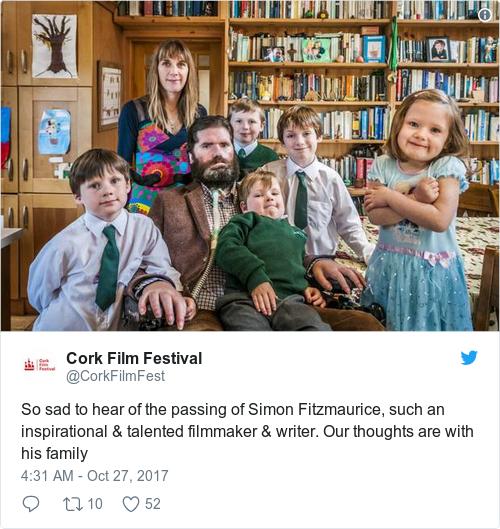 Tweet by @Cork Film Festival