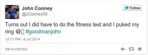 Tweet by @John Cooney