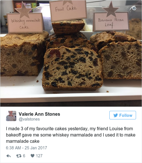 Tweet by @Valerie Ann Stones