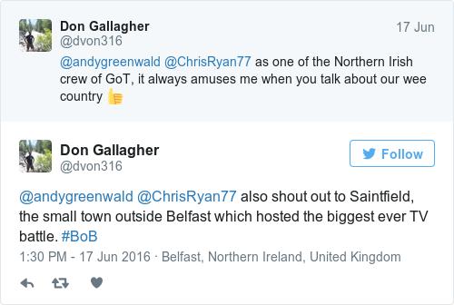 Tweet by @Don Gallagher