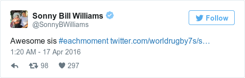 Tweet by @Sonny Bill Williams