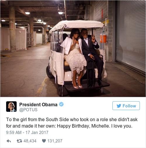 Tweet by @President Obama