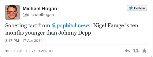 Tweet by @Michael Hogan