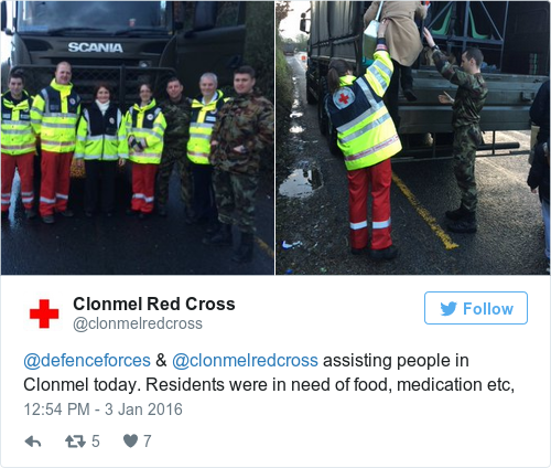 Tweet by @Clonmel Red Cross