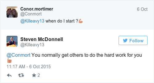 Tweet by @Steven McDonnell