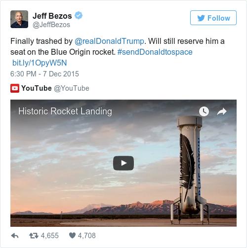 Tweet by @Jeff Bezos