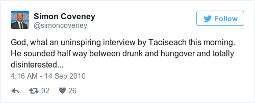 Tweet by @Simon Coveney