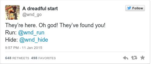 Tweet by @A dreadful start