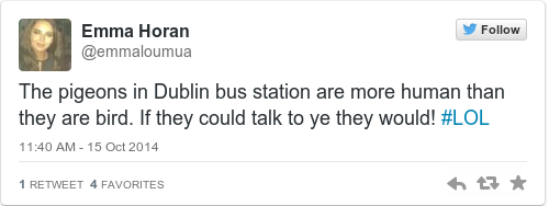 Tweet by @Emma Horan