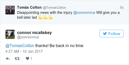 Tweet by @connor mcaliskey