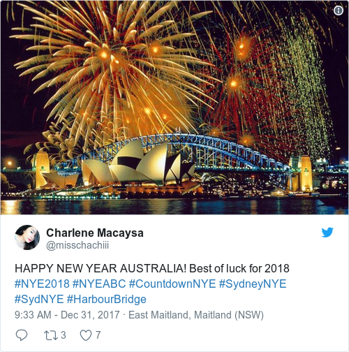 happy new year australia best of luck for 2018 nye2018 nyeabc countdownnye sydneynye sydnye harbourbridge pictwittercomn2srxybire