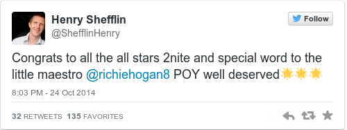 Tweet by @Henry Shefflin