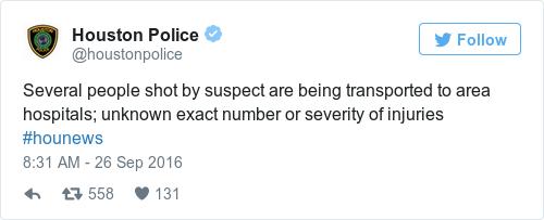 Tweet by @Houston Police
