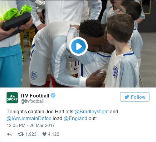 Tweet by @ITV Football